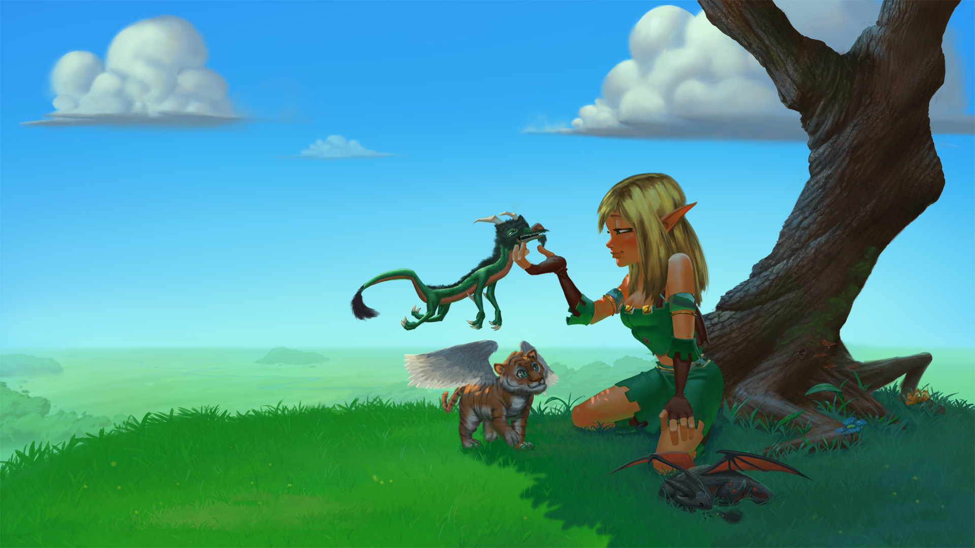 Dungeon Defenders Huntress Wallpaper Dundef_huntresswallpaper