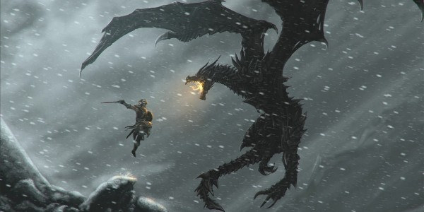 skyrim-fighting-the-dragon