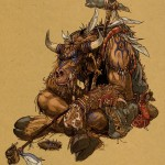 book of unwritten tales tauren_shaman_color