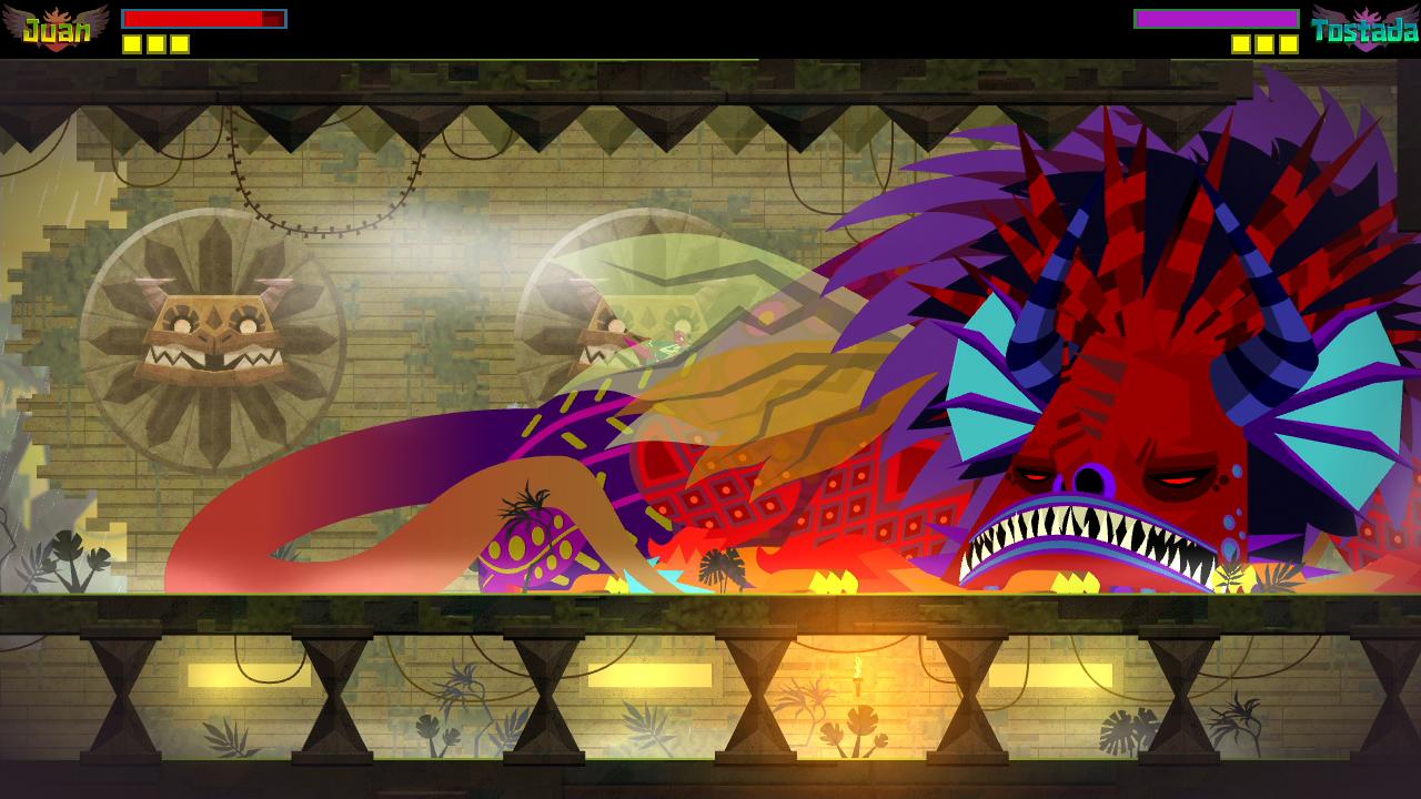 Guacamelee 2 player sleeping monster closeup