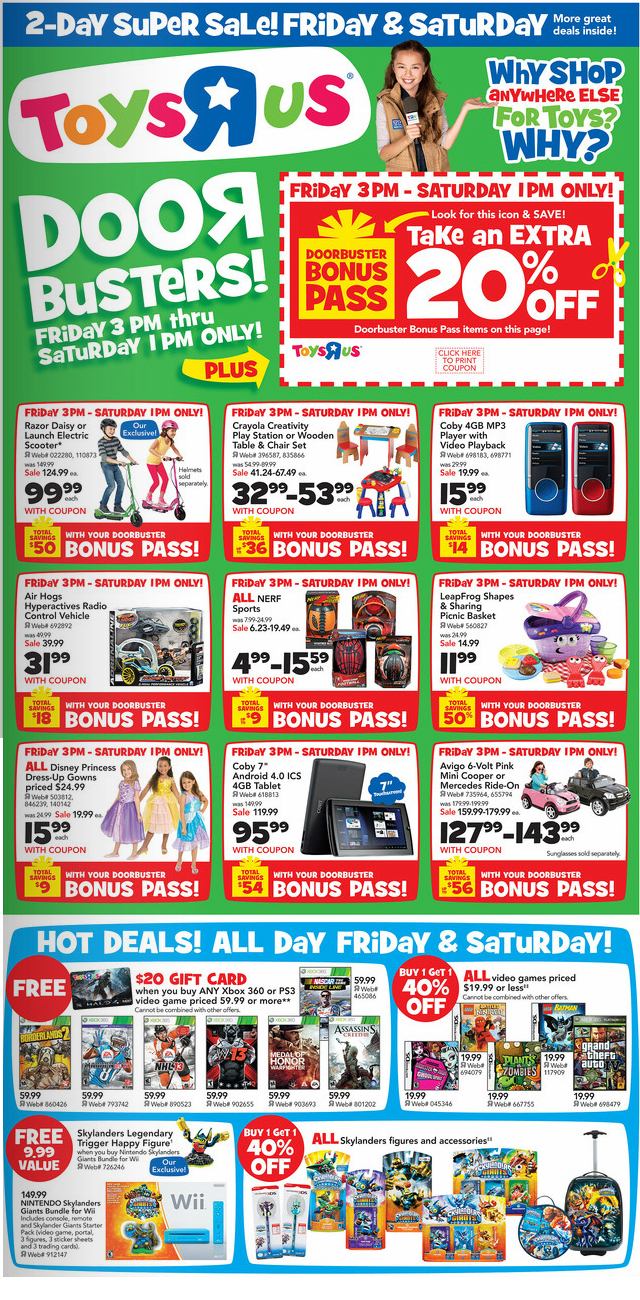 Toys R Us Games : Updated black friday video game deals · levelsave