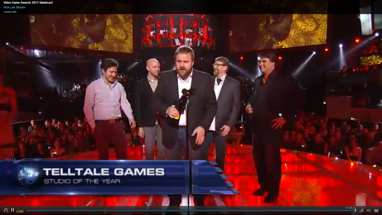 the walking dead wins VGA Game of the year