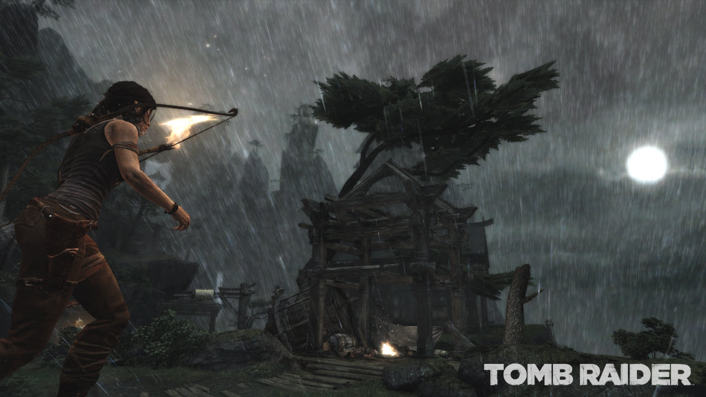 Lara in the rain