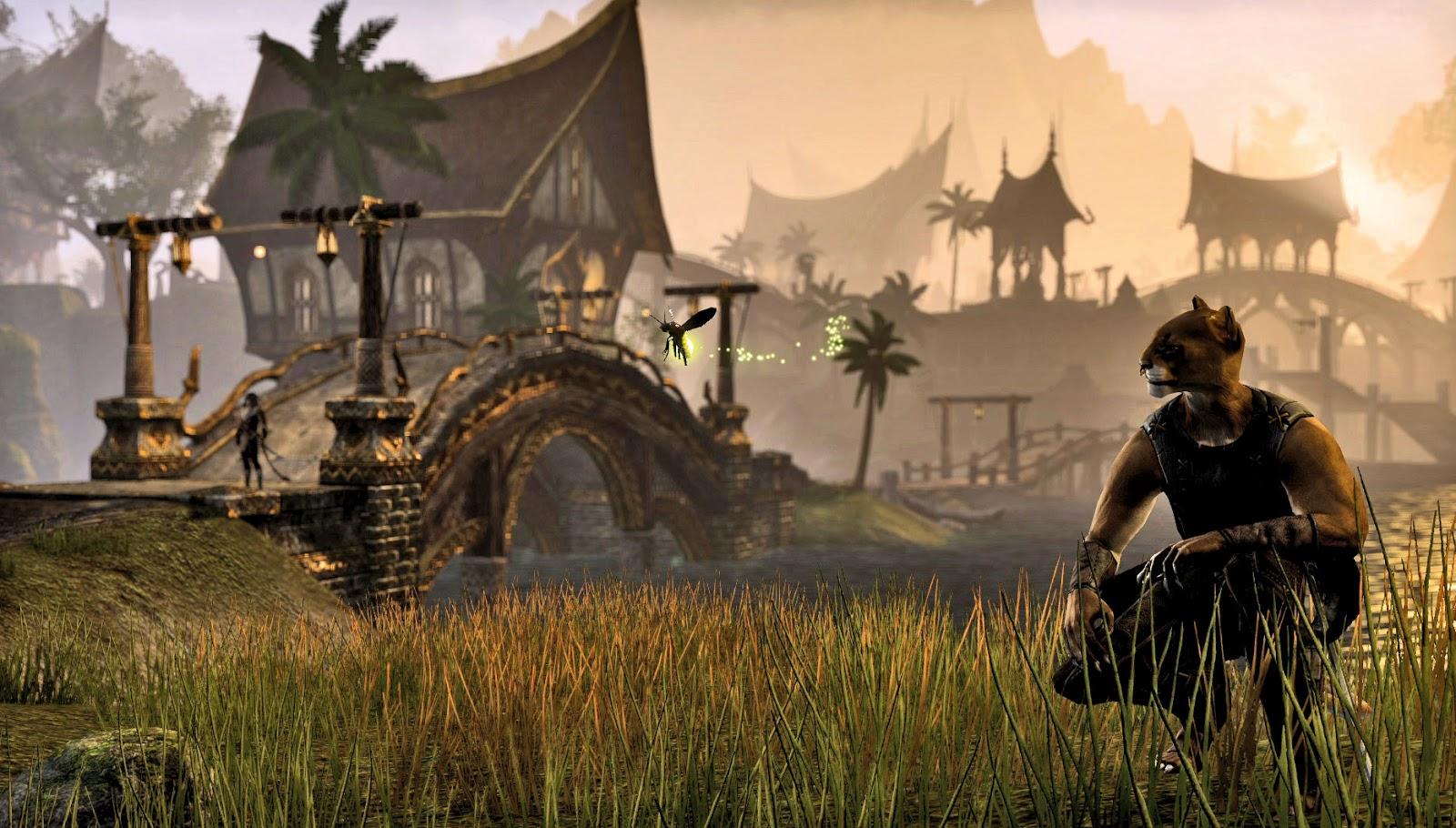 The-Elder-Scrolls-Online-Khajiit-at-sunset