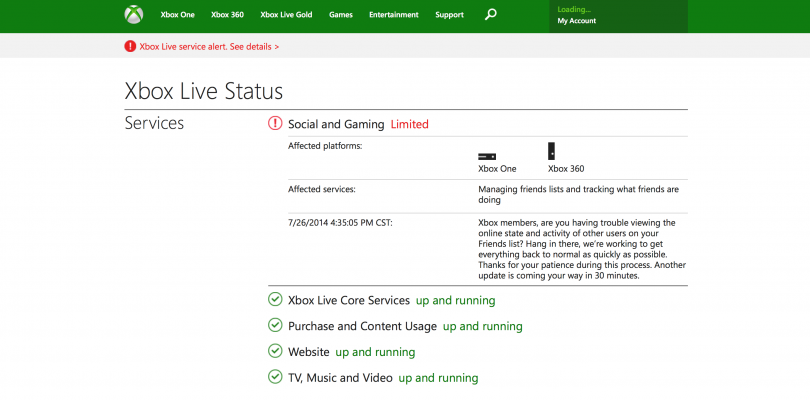 Destiny's Public Beta Stress Test Just Crashed Xbox Live's Party System [Update: Xbox Live is Down] [Not Anymore]